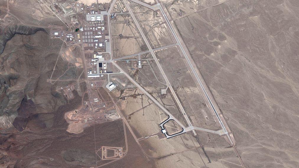 DigitalGlobe satellite image Area 51.  (Photo DigitalGlobe via Getty Images)