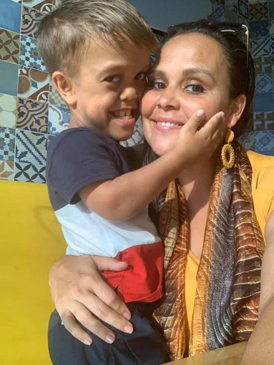 Yarraka Bayles, with son Quaden