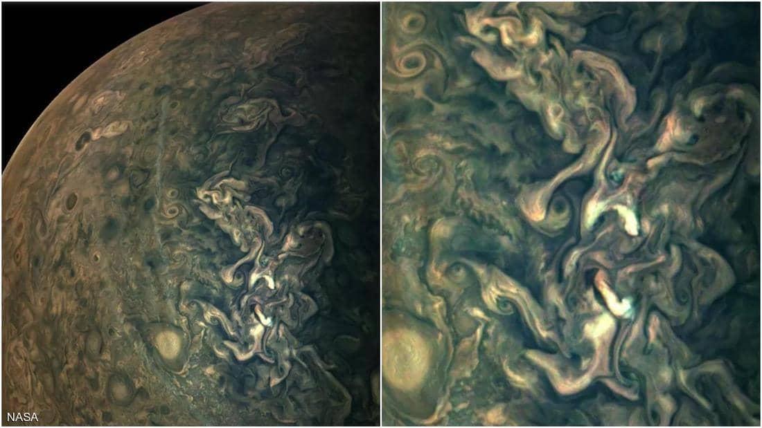 The bright surface of Jupiter